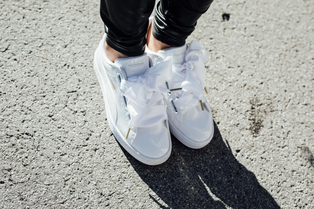 OUTFIT: Puma Basket Heart Sneakers patent leather with a