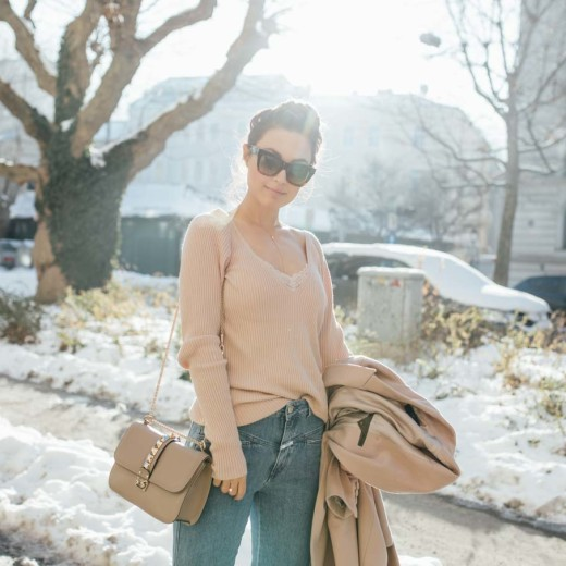 OUTFIT: Spring Cravings | Closed Pedal Pusher Jeans, Céline Catherine Sunglasses, nude tones | You rock my life