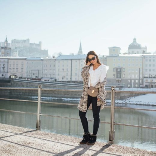 OUTFIT: Spring Trend Volant Blouse and Knit Cardigan | You rock my life