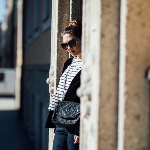 Outfit: How to be Parisian - Stripes, Chanel, Chloé | www.yourockmylife.com