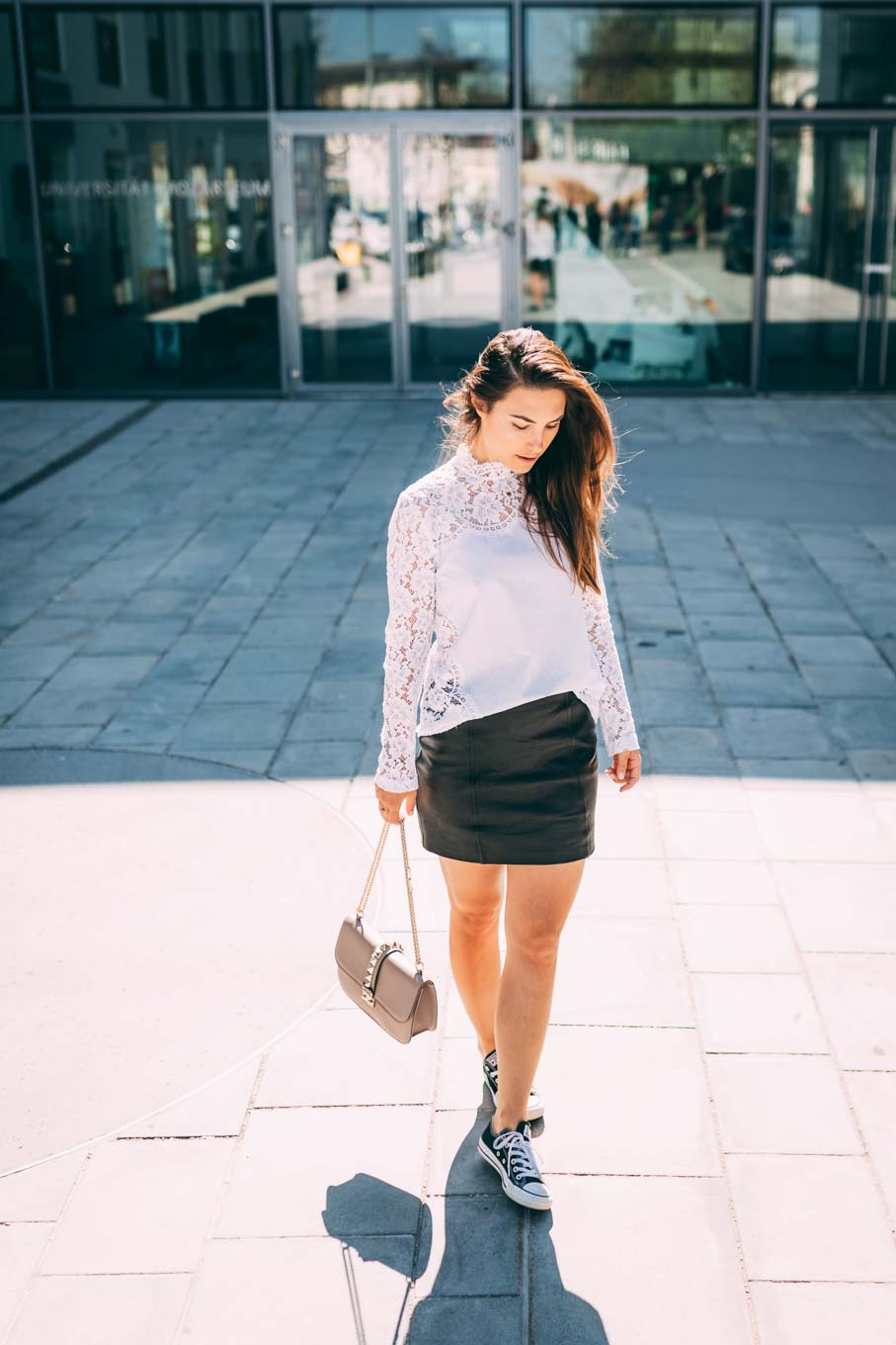 Outfit: Black Leather Mini Skirt - You Rock My Life
