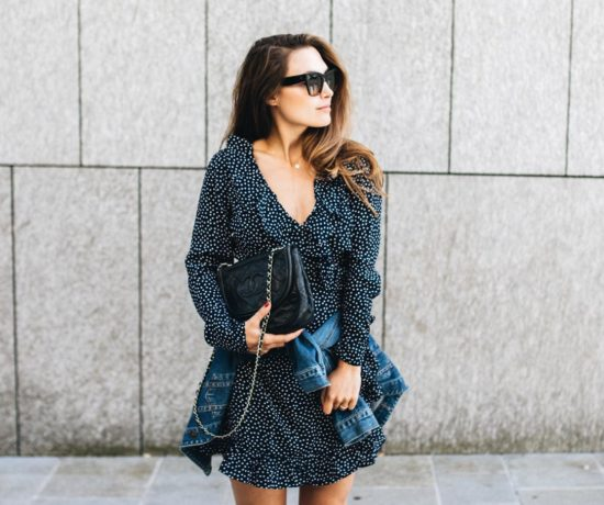 Outfit: Wrap Dress, Denim Jacket, Chloé Susanna Boots | You Rock My Life