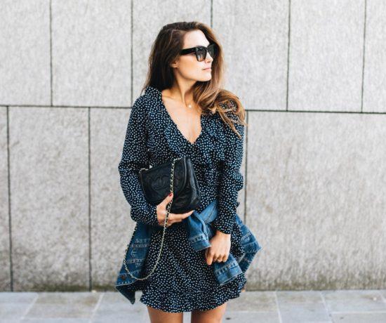 Outfit: Wrap Dress, Denim Jacket, Chloé Susanna Boots | You Rock My Life