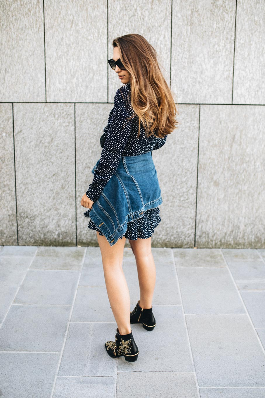 Outfit: Wrap Dress, Denim Jacket, Chloé Susanna Boots   You Rock My Life