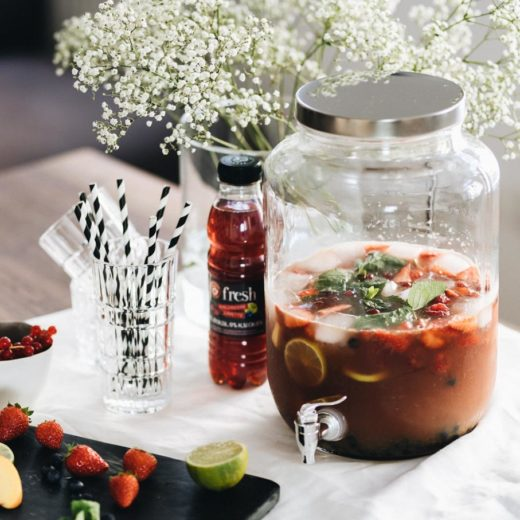 Lifestyle: Fresh Baby Sangria Recipe - Teekanne | You Rock My Life