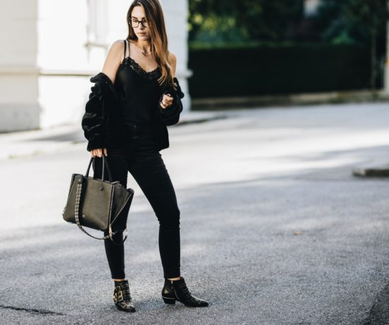 Outfit: How to wear black from head to toe without looking boring   You rock my life
