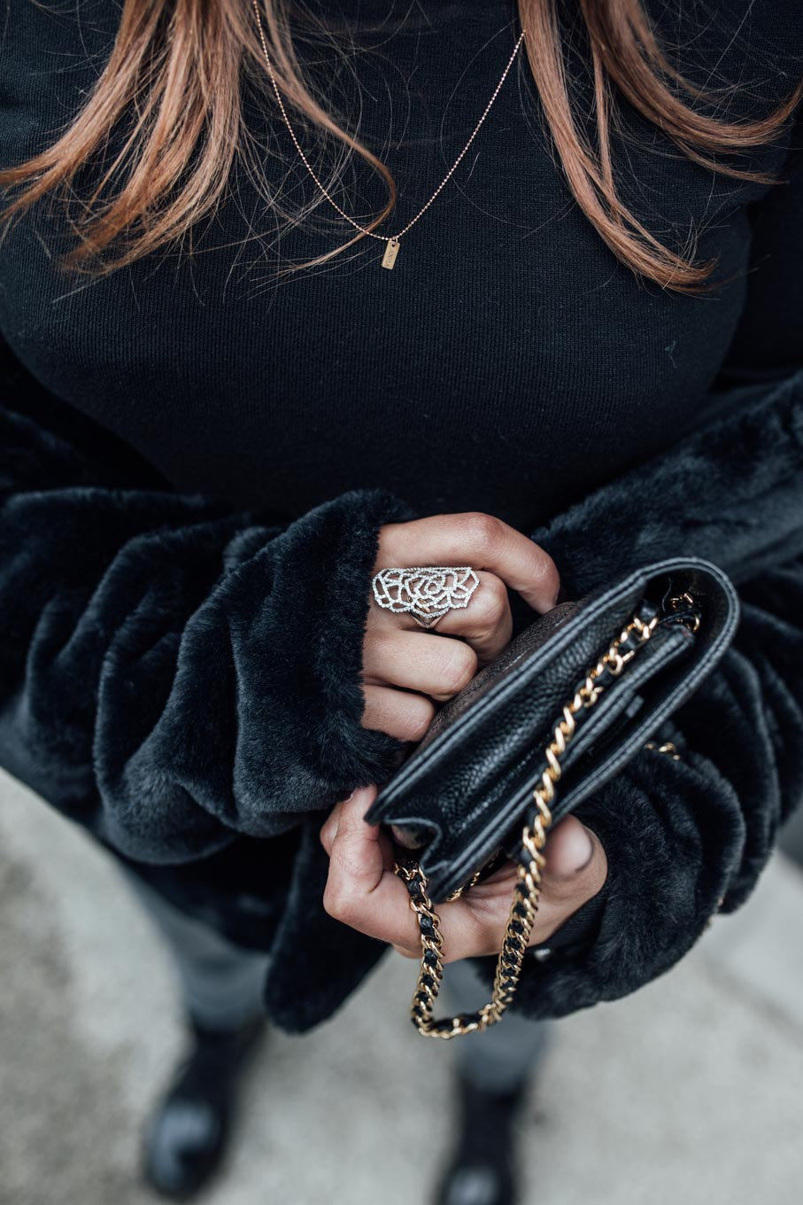 Outfit: Must Have Of The Season: Black Turtleneck   Closes Pedal Pusher Jeans, Chanel Wallet On Chain WOC, Dr. Martens Boots, Nomade Moderne Hat, Leo Mathild Jewelry   you rock my life