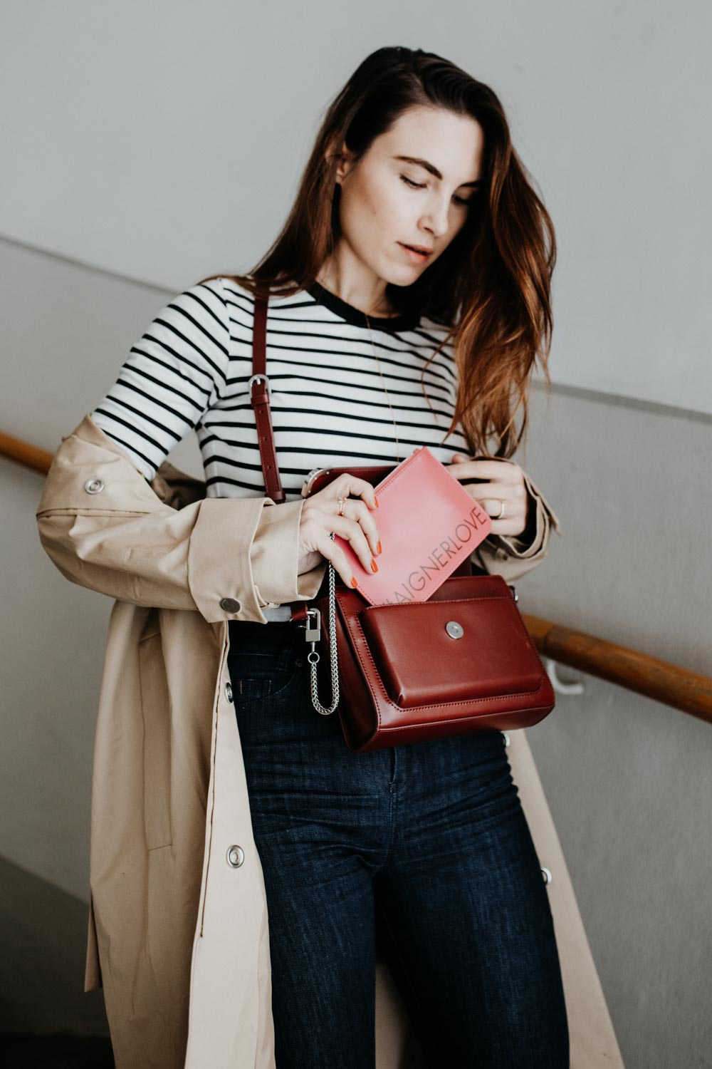 Edited Trench Coat, Edited Striped Shirt, Aigner Amber Bag, Chanel Slingbacks, Selfnation Jeans | TimelessFashion Classics - You Rock My Life