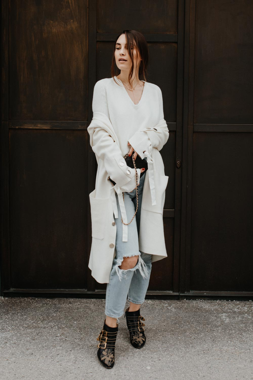 How To Wear: White In Winter - Outfit | you rock my life