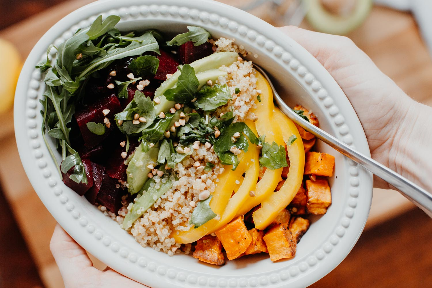 Tasty & Healthy: Quinoa Rainbow Lunch Bowl | you rock my life