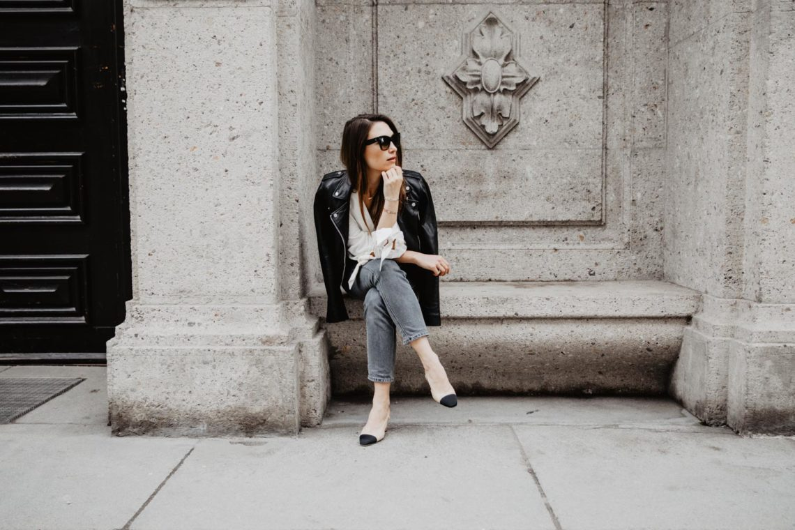 Outfit  CC aka Casually Chic - Chanel Slingbacks