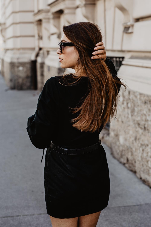 Outfit: The New Black   Aigner Diadora Belt Bag, Castaner Chiara Wedge Heels, Edited Dress, Céline Sunglasses   you rock my life