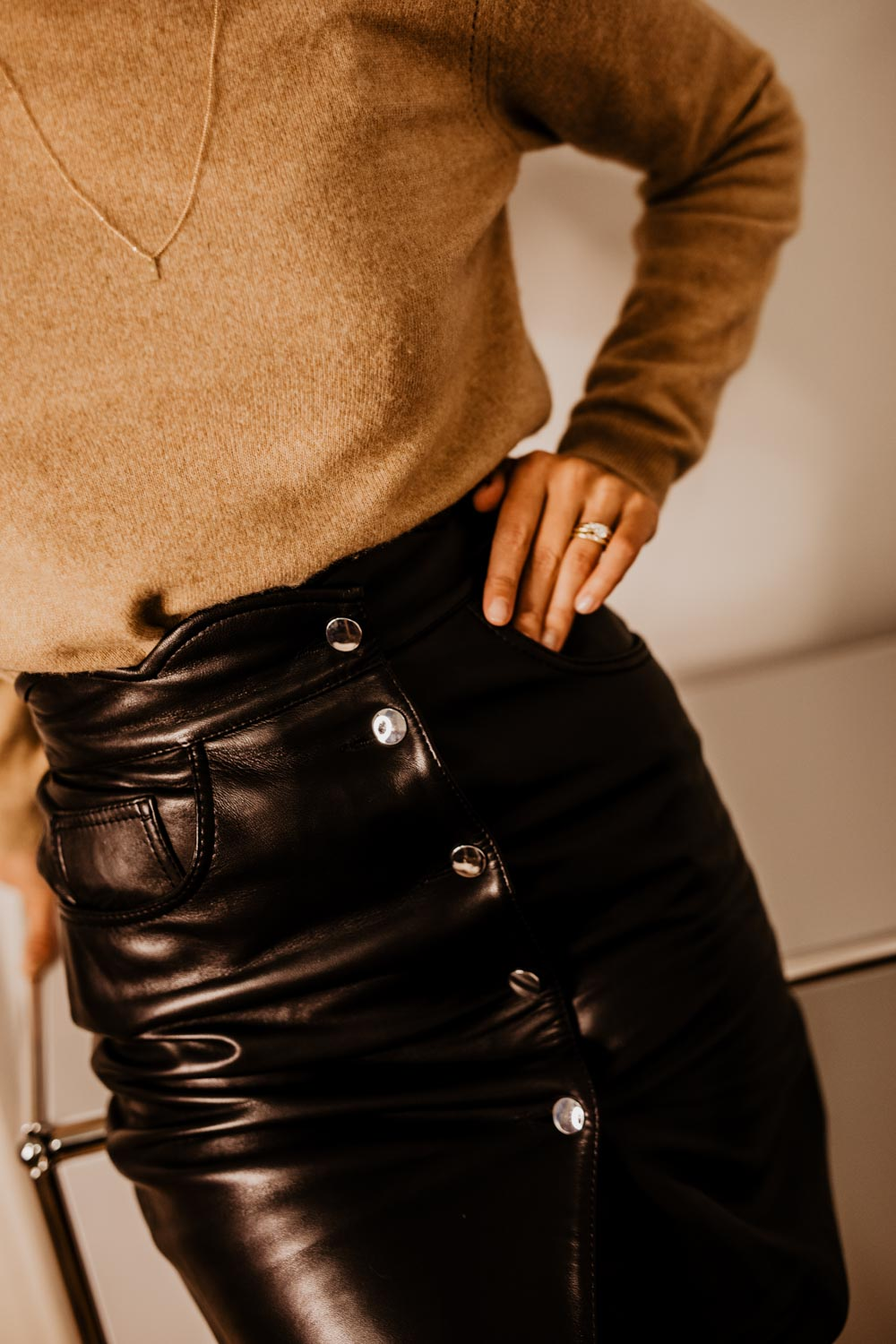Outfit: Office Days - Leather Skirt | You Rock My Life