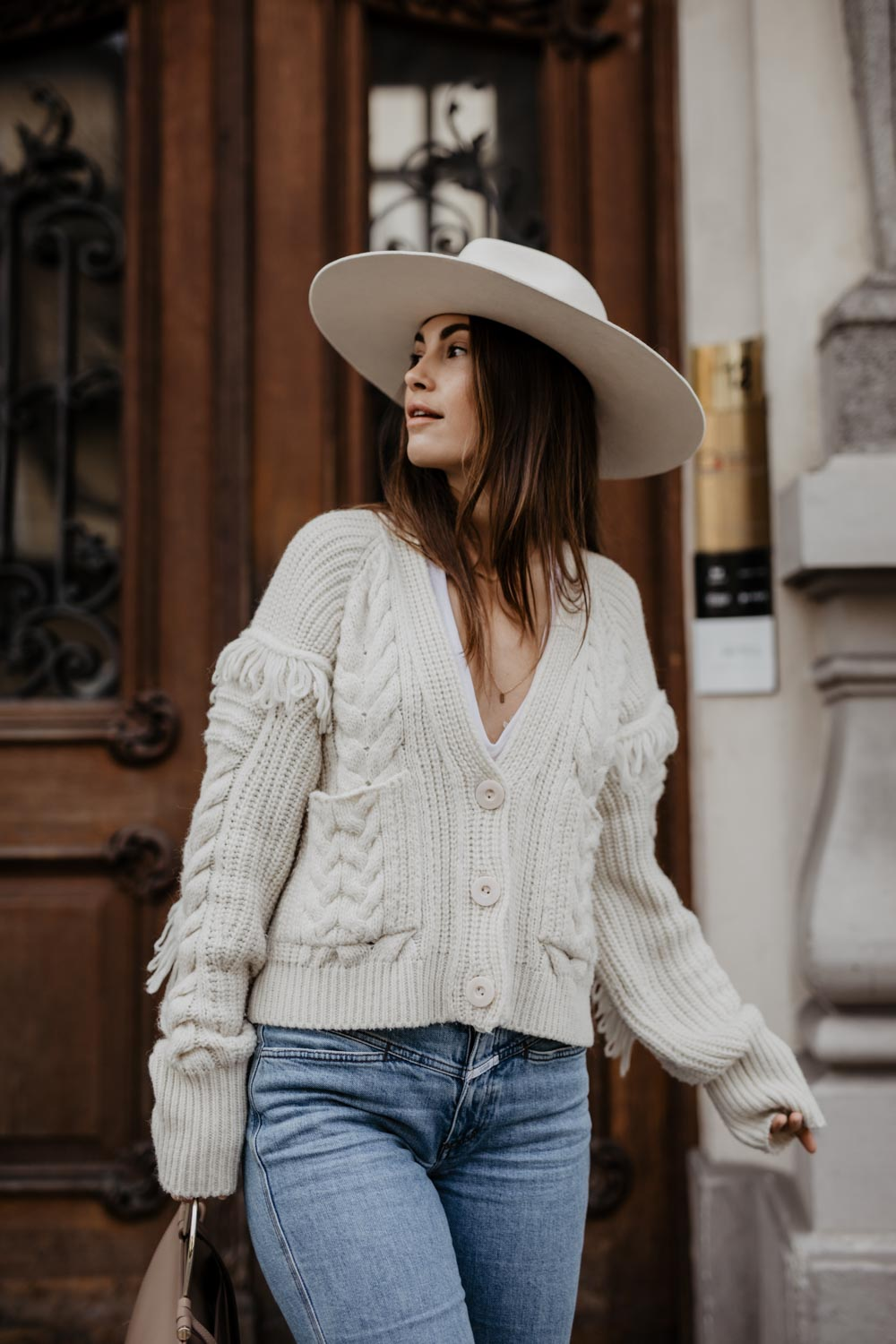 Outfit: J'adore - Closed Jeans, Lack Of Color Hat, Isabel Marant Nowles Boots, Edited Sweater, Aigner Lexi Bag | You rock my life - ninawro