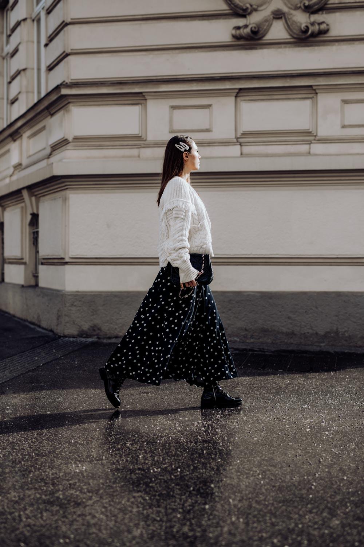 Outfit: Ganni Polka Dot Dress, Baker Boy Hat, Chanel Bag | you rock my life